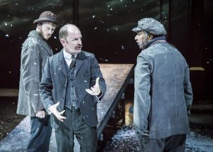 7. RHYS MEREDITH, IAN HUGHES, MADHAV SHARMA in Chichester Festival Theatre's STRIFE. Photo Johan Persson_01861