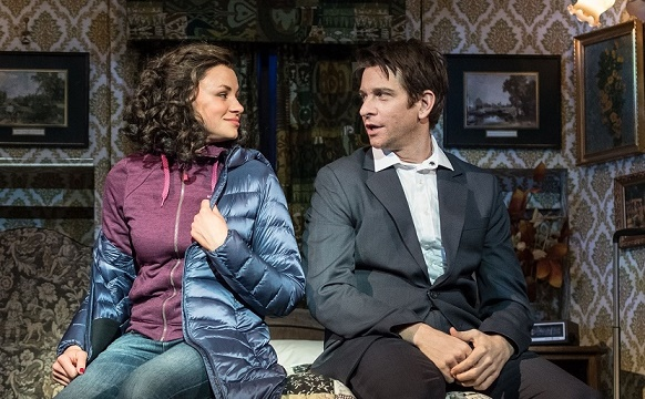 Andy Karl & Carlyss Peer in Groundhog Day at The Old Vic. Images Manuel Harlan