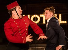 Keith Higinbotham and Alex Hooper in Antic Disposition's The Comedy of Errors