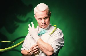 Little Shop of Horrors - Rhydian as The Dentist - Photo Credit Matt Martin