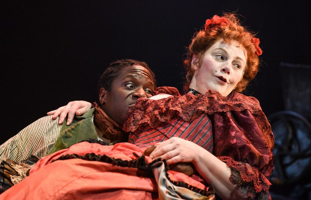 Hugh Maynard & Sophie Louise Dann in Sweeney Todd. Images Robert Day.