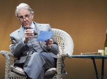 Sand in the Sandwiches by Hugh Whitemore, directed by Gareth Armstrong. With Edward Fox as John Betjeman. Oxford Playhouse Theatre. CREDIT Geraint Lewis