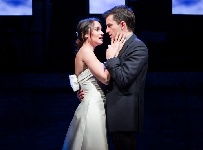 Samantha Barks & Jonathan Bailey  in The Last Five Years. Images Scott Rylander